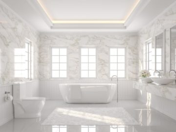 polished marble bathrooms