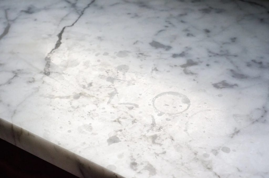 rings on your marble countertip